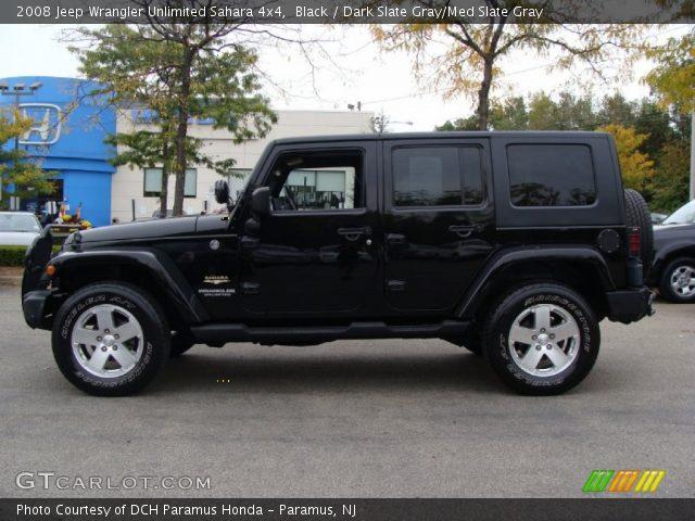 black 2008 jeep wrangler unlimited sahara 4x4 dark slate gray med slate gray interior. Black Bedroom Furniture Sets. Home Design Ideas