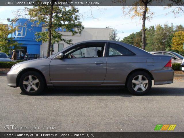 Magnesium Metallic 2004 Honda Civic Ex Coupe Gray Interior Vehicle Archive
