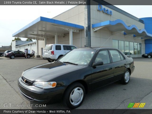 satin black metallic 1999 toyota corolla ce pebble. Black Bedroom Furniture Sets. Home Design Ideas