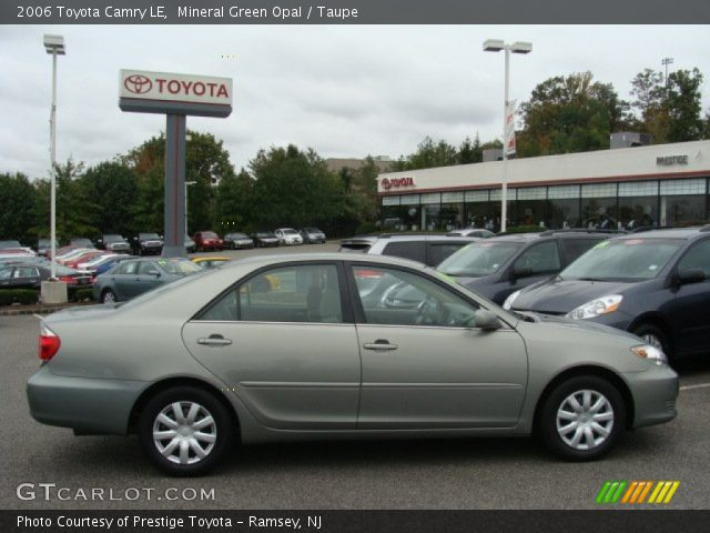 mineral green opal 2006 toyota camry le taupe interior vehicle archive. Black Bedroom Furniture Sets. Home Design Ideas