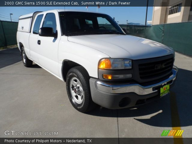 summit white 2003 gmc sierra 1500 sle extended cab dark pewter interior. Black Bedroom Furniture Sets. Home Design Ideas