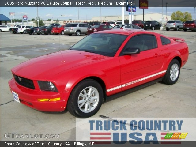 torch red 2005 ford mustang v6 deluxe coupe medium. Black Bedroom Furniture Sets. Home Design Ideas