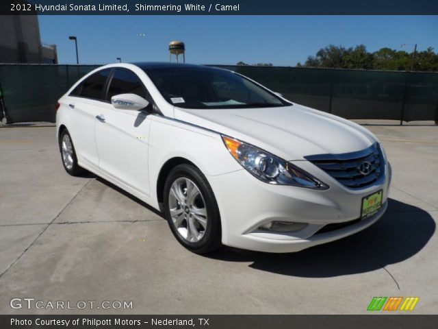 2012 Hyundai Sonata Limited in Shimmering White