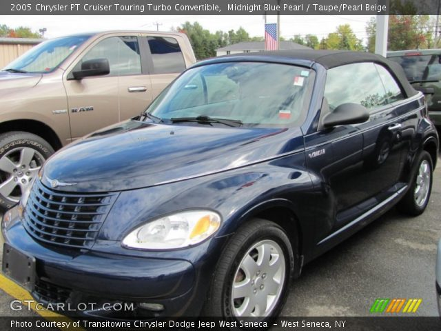 midnight blue pearl 2005 chrysler pt cruiser touring turbo convertible taupe pearl beige. Black Bedroom Furniture Sets. Home Design Ideas