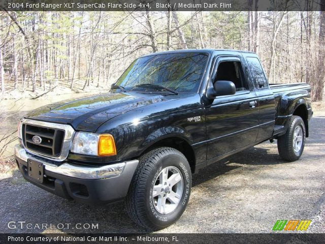 black 2004 ford ranger xlt supercab flare side 4x4 medium dark flint interior. Black Bedroom Furniture Sets. Home Design Ideas