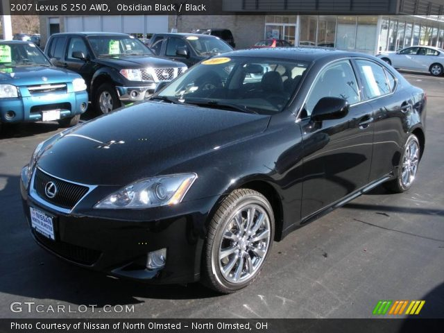 obsidian black 2007 lexus is 250 awd black interior vehicle archive 5517693. Black Bedroom Furniture Sets. Home Design Ideas