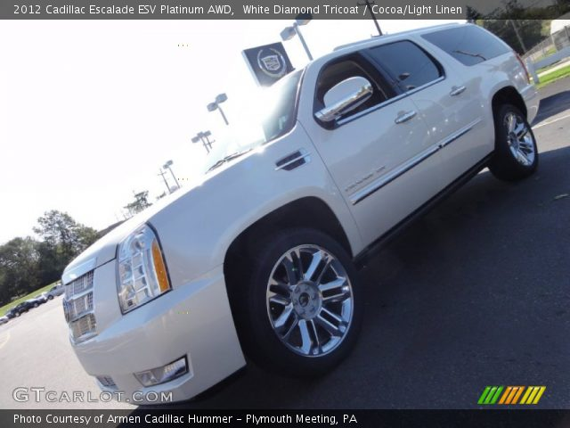 2012 Cadillac Escalade ESV Platinum AWD in White Diamond Tricoat
