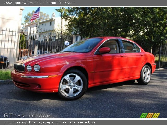 phoenix red 2002 jaguar x type 3 0 sand interior vehicle archive 55365105. Black Bedroom Furniture Sets. Home Design Ideas