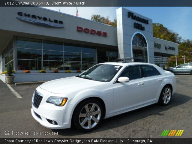 Bright White 2012 Chrysler 300 Srt8 Black Interior Vehicle Archive 55402251