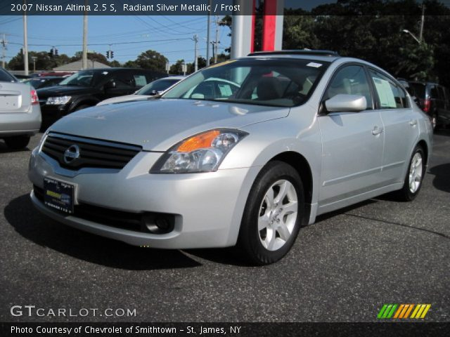 Radiant Silver Metallic 2007 Nissan Altima 2 5 S Frost Interior Vehicle