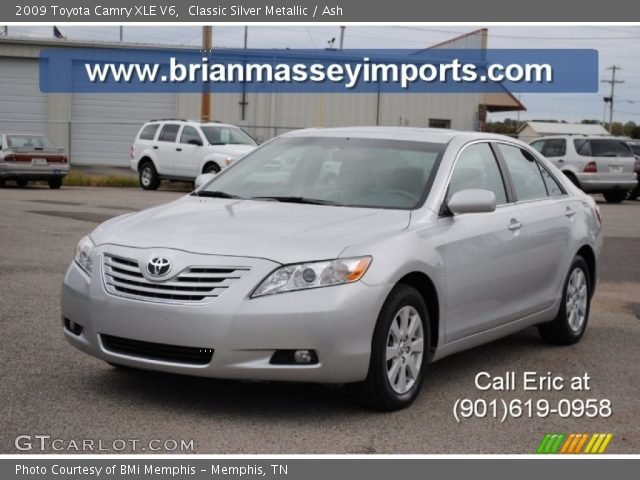 classic silver metallic 2009 toyota camry xle v6 ash interior vehicle. Black Bedroom Furniture Sets. Home Design Ideas