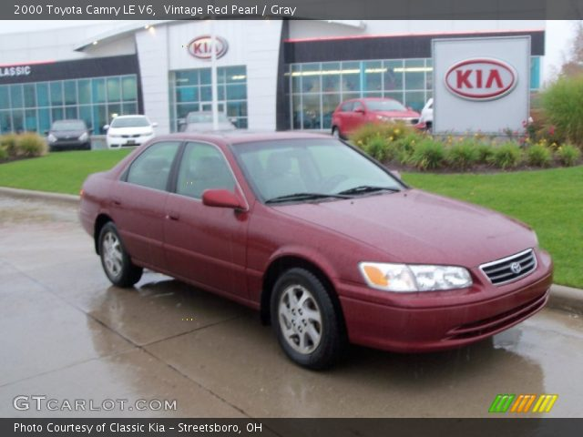 vintage red pearl 2000 toyota camry le v6 gray interior vehicle archive. Black Bedroom Furniture Sets. Home Design Ideas