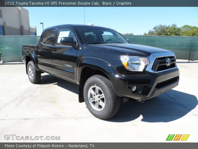 black 2012 toyota tacoma v6 sr5 prerunner double cab graphite interior. Black Bedroom Furniture Sets. Home Design Ideas