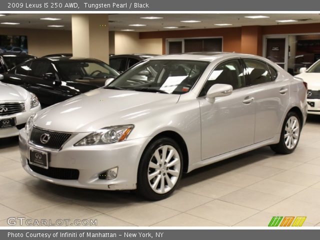 tungsten pearl 2009 lexus is 250 awd black interior vehicle archive 55488439. Black Bedroom Furniture Sets. Home Design Ideas