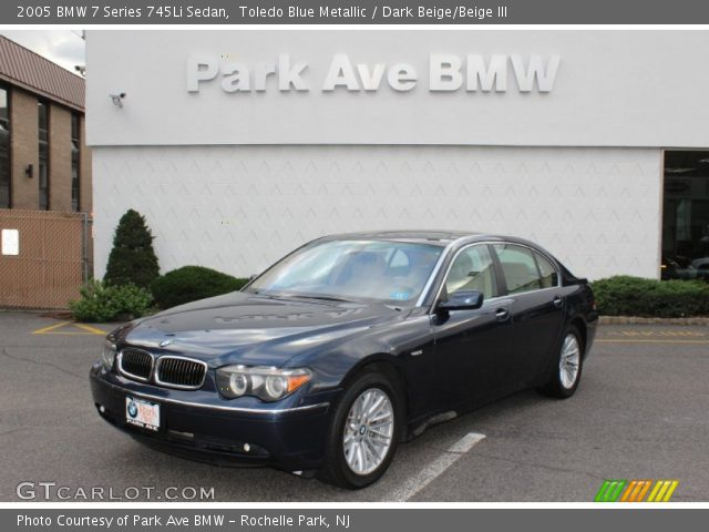 2005 BMW 7 Series 745Li Sedan in Toledo Blue Metallic