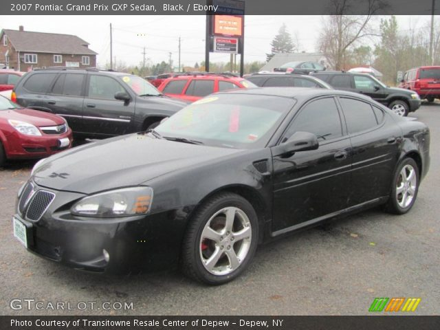 black 2007 pontiac grand prix gxp sedan ebony interior vehicle archive. Black Bedroom Furniture Sets. Home Design Ideas