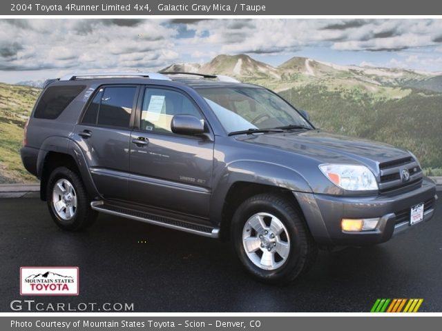 Galactic Gray Mica 2004 Toyota 4runner Limited 4x4 Taupe Interior Vehicle
