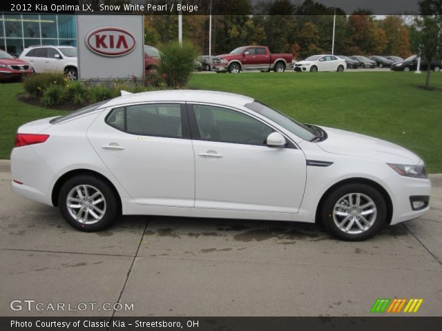 2012 Kia Optima LX in Snow White Pearl