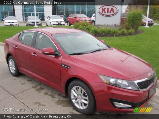 2012 Kia Optima LX in Spicy Red