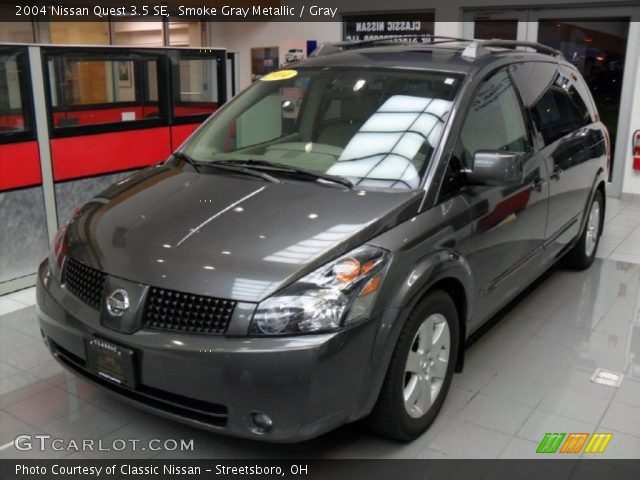smoke gray metallic 2004 nissan quest 3 5 se gray interior vehicle archive. Black Bedroom Furniture Sets. Home Design Ideas