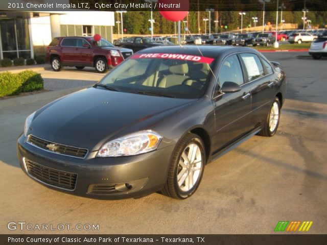 cyber gray metallic 2011 chevrolet impala ltz neutral interior vehicle. Black Bedroom Furniture Sets. Home Design Ideas