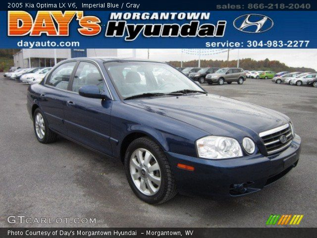 2005 Kia Optima LX V6 in Imperial Blue. Click to see large photo.