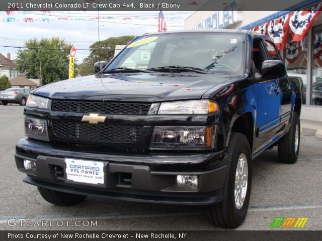 black 2011 chevrolet colorado lt crew cab 4x4 ebony. Black Bedroom Furniture Sets. Home Design Ideas