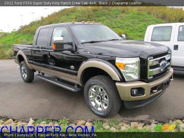 black 2012 ford f350 super duty king ranch crew cab 4x4 chaparral leather interior. Black Bedroom Furniture Sets. Home Design Ideas
