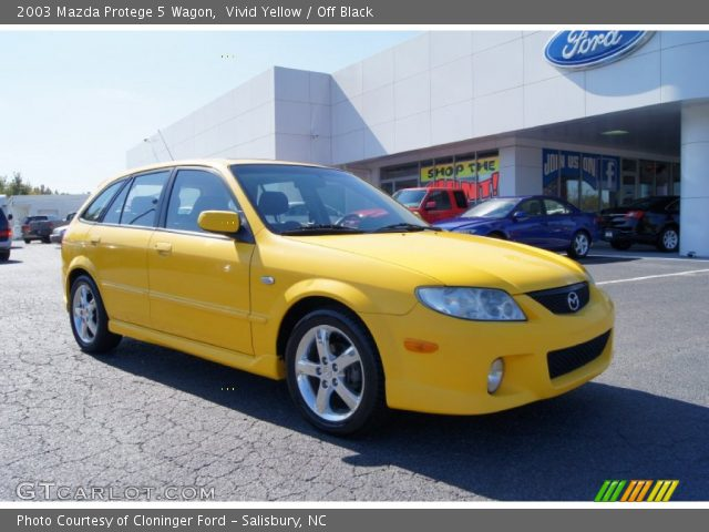 2003 Mazda Protege 5 Wagon in Vivid Yellow
