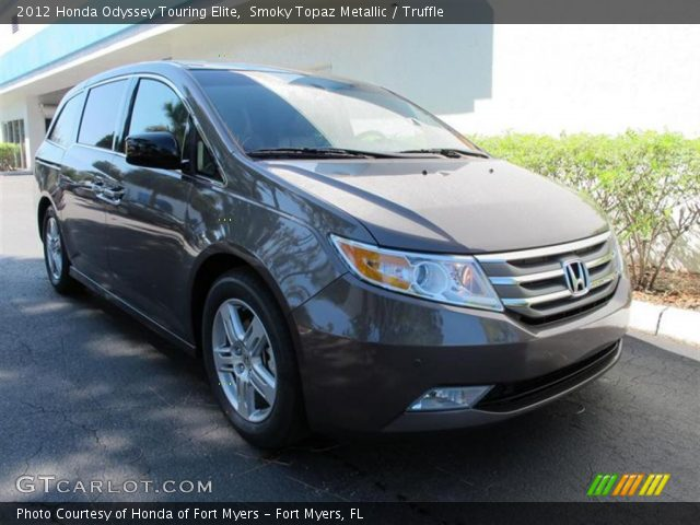 smoky topaz metallic 2012 honda odyssey touring elite truffle interior. Black Bedroom Furniture Sets. Home Design Ideas