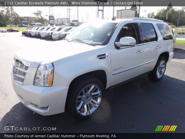 2012 Cadillac Escalade Platinum AWD in White Diamond Tricoat