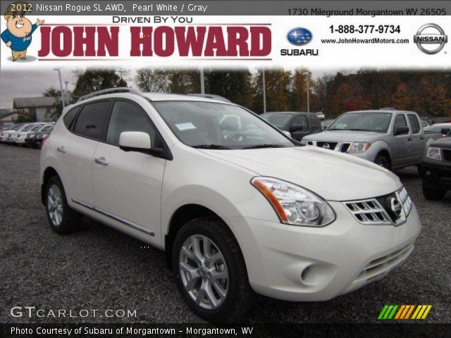 Pearl white 2012 nissan rogue sl awd gray interior - 2012 nissan rogue exterior colors ...