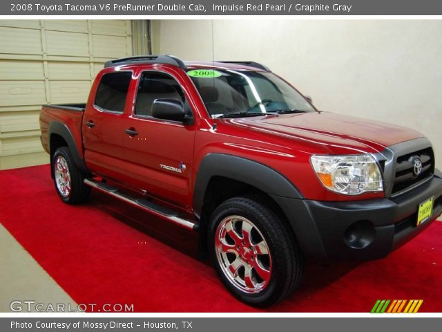 impulse red pearl 2008 toyota tacoma v6 prerunner double cab graphite gray interior. Black Bedroom Furniture Sets. Home Design Ideas