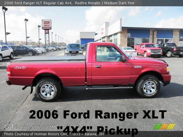redfire metallic 2006 ford ranger xlt regular cab 4x4 medium dark flint interior gtcarlot. Black Bedroom Furniture Sets. Home Design Ideas
