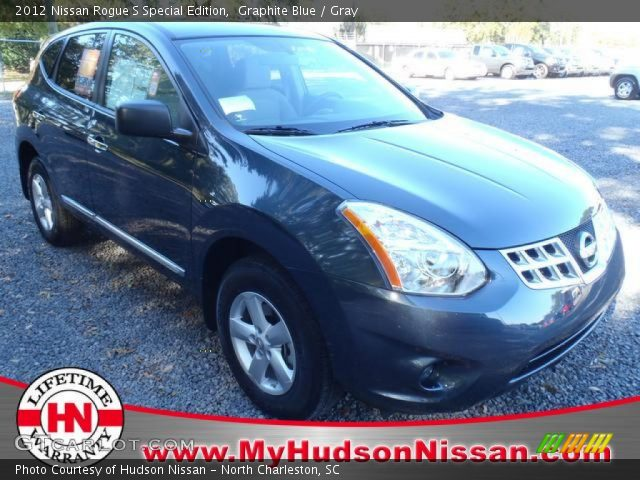 graphite blue 2012 nissan rogue s special edition gray interior vehicle. Black Bedroom Furniture Sets. Home Design Ideas
