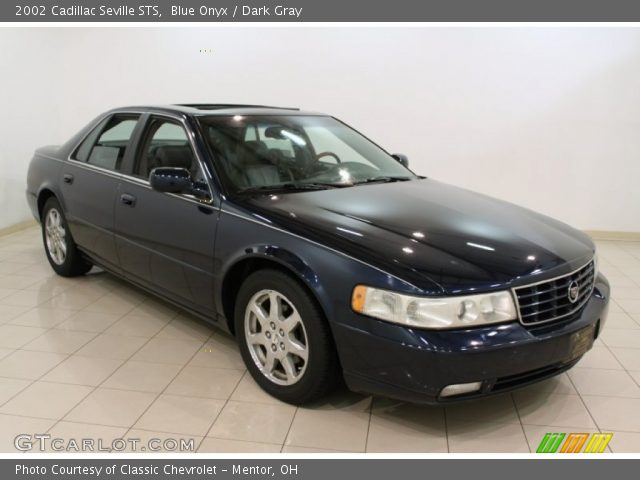blue onyx 2002 cadillac seville sts dark gray interior vehicle archive. Black Bedroom Furniture Sets. Home Design Ideas