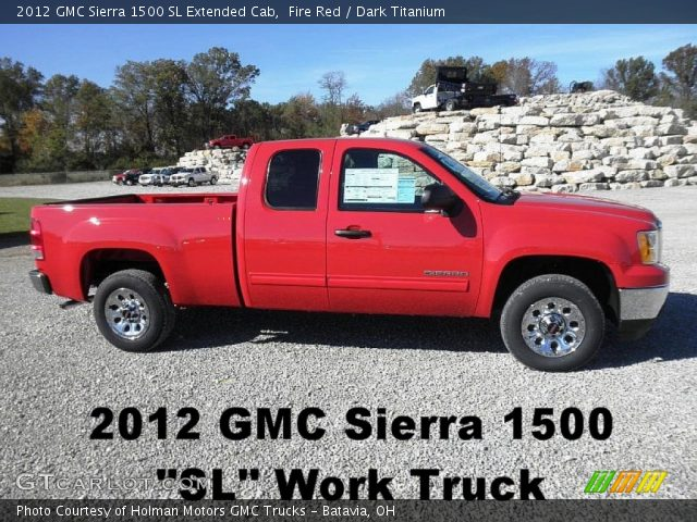2012 GMC Sierra 1500 SL Extended Cab in Fire Red