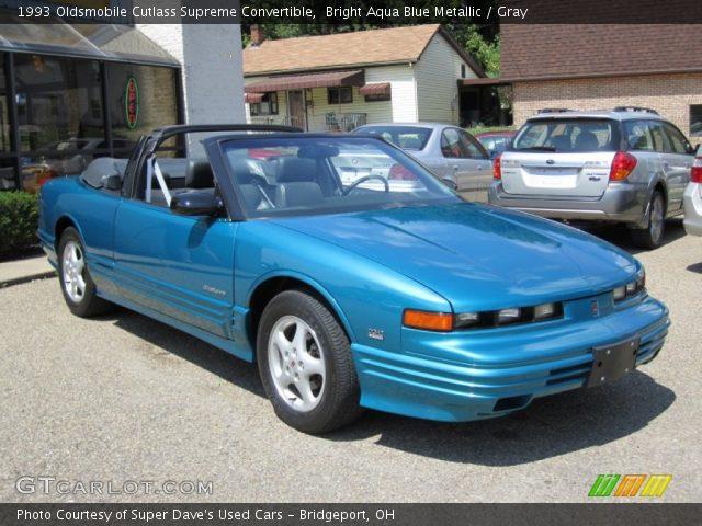 1993 Oldsmobile Cutlass Supreme Convertible in Bright Aqua Blue Metallic
