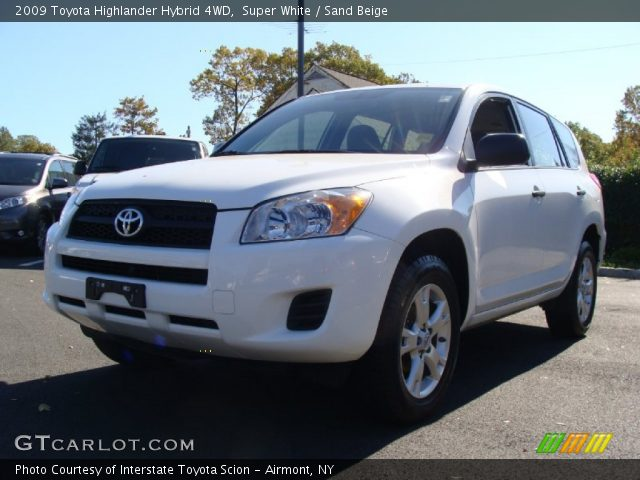 super white 2009 toyota highlander hybrid 4wd sand. Black Bedroom Furniture Sets. Home Design Ideas