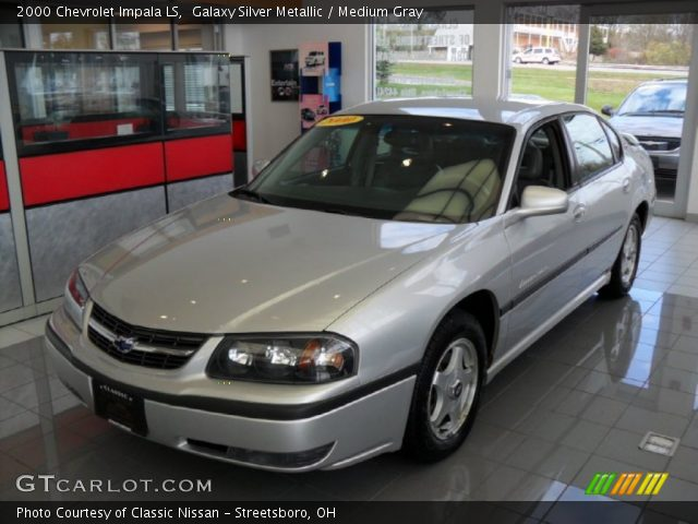galaxy silver metallic 2000 chevrolet impala ls medium gray interior. Black Bedroom Furniture Sets. Home Design Ideas