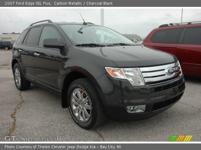 carbon metallic 2007 ford edge sel plus charcoal black interior vehicle. Black Bedroom Furniture Sets. Home Design Ideas
