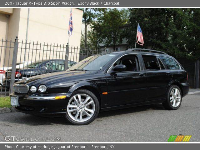 ebony black 2007 jaguar x type 3 0 sport wagon charcoal interior vehicle. Black Bedroom Furniture Sets. Home Design Ideas