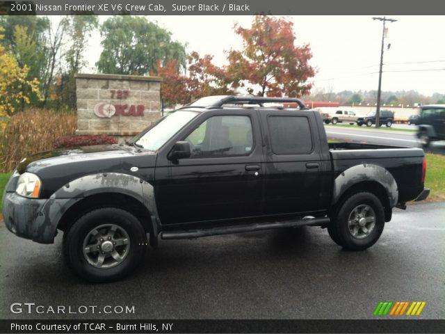 super black 2001 nissan frontier xe v6 crew cab black interior vehicle. Black Bedroom Furniture Sets. Home Design Ideas