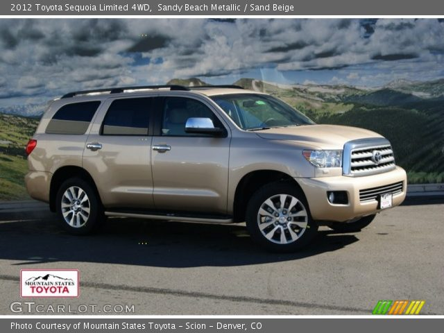 sandy beach metallic 2012 toyota sequoia limited 4wd. Black Bedroom Furniture Sets. Home Design Ideas