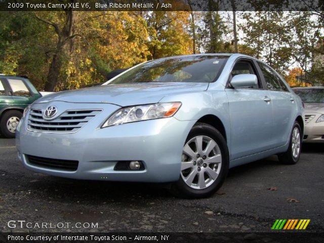 blue ribbon metallic 2009 toyota camry xle v6 ash interior vehicle archive. Black Bedroom Furniture Sets. Home Design Ideas