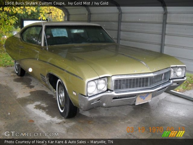 1968 Buick Skylark Custom Coupe in Ivy Gold Mist
