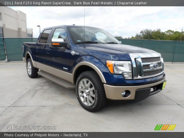 dark blue pearl metallic 2011 ford f150 king ranch supercrew chaparral leather interior. Black Bedroom Furniture Sets. Home Design Ideas