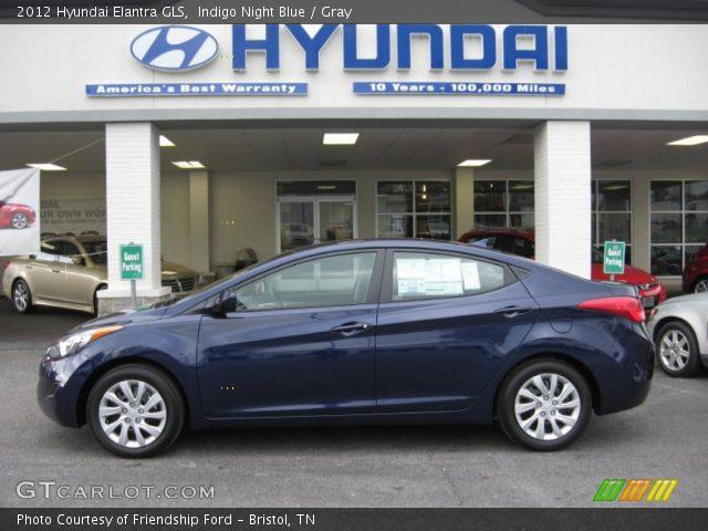 2012 Hyundai Elantra GLS in Indigo Night Blue