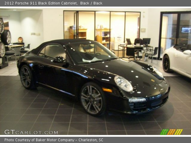 black 2012 porsche 911 black edition cabriolet black interior vehicle. Black Bedroom Furniture Sets. Home Design Ideas