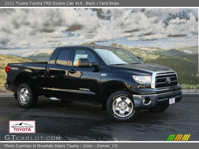 black 2012 toyota tundra trd double cab 4x4 sand beige interior vehicle. Black Bedroom Furniture Sets. Home Design Ideas